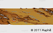 "Physical Panoramic Map of the area around 29° 44' 59"" N, 52° 46' 29"" E"