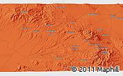 Political 3D Map of A`ereh
