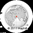 Outline Map of Zahedan, rectangular outline