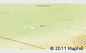 "Physical 3D Map of the area around 29° 44' 59"" N, 62° 7' 30"" E"