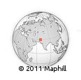Outline Map of Sibi, rectangular outline
