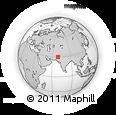 Outline Map of Kohlu Tehsil, rectangular outline