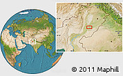 """Satellite Location Map of the area around 29°44'59""""N,71°28'29""""E"""