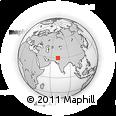 Outline Map of Jalalpur Pirwala, rectangular outline
