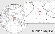 Blank Location Map of Sahāranpur