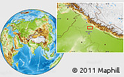 Physical Location Map of Sahāranpur
