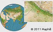 Satellite Location Map of Sahāranpur