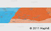 Political Panoramic Map of Sahāranpur