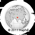 Outline Map of Haridwar, rectangular outline