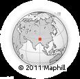 Outline Map of Longjue, rectangular outline