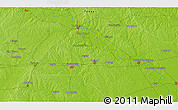 """Physical 3D Map of the area around 29°44'59""""N,96°49'29""""W"""