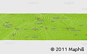 """Physical Panoramic Map of the area around 29°44'59""""N,96°49'29""""W"""