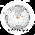 Outline Map of Kenhardt, rectangular outline