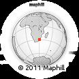 Outline Map of Pietermaritzburg, rectangular outline