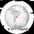 Outline Map of Roissy CDG CEDEX, rectangular outline
