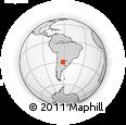 Outline Map of Tres Lagunas, rectangular outline