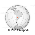 Outline Map of El Aybal, rectangular outline