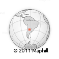 Outline Map of El Puestito, rectangular outline