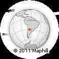 Outline Map of El Cercado, rectangular outline