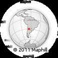Outline Map of El Quebracho, rectangular outline