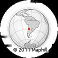 Outline Map of Nacimiento, rectangular outline