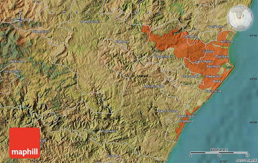 Satellite Map of Umlazi