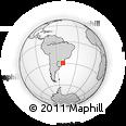 Outline Map of Porto Alegre, rectangular outline