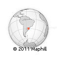 Outline Map of Santa Flora, rectangular outline