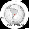 Outline Map of João Dorneles, rectangular outline