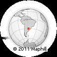 Outline Map of Curuzú Cuatiá, rectangular outline