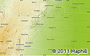 """Physical Map of the area around 29°54'34""""S,63°40'30""""W"""