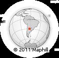 Outline Map of Churqui Cañada, rectangular outline