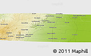 """Physical Panoramic Map of the area around 29°54'34""""S,63°40'30""""W"""