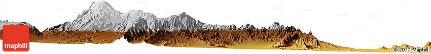 Physical Horizon Map of Pampita