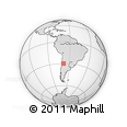 Outline Map of Pampita, rectangular outline