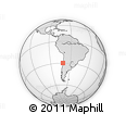 Outline Map of Coquimbo, rectangular outline