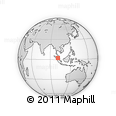"""Outline Map of the Area around 2° 16' 34"""" N, 101° 13' 29"""" E, rectangular outline"""