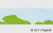 """Physical Panoramic Map of the area around 2°16'34""""N,101°13'29""""E"""