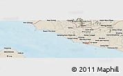 Shaded Relief Panoramic Map of Melaka