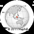 Outline Map of Jalan Bulungan, rectangular outline