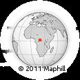 Outline Map of Zambi, rectangular outline