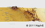Physical Panoramic Map of Moroto