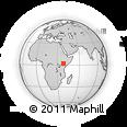 Outline Map of Marsabit, rectangular outline