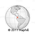 Outline Map of Popayán, rectangular outline