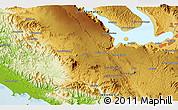 Physical 3D Map of Siborongborong
