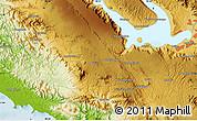 Physical Map of Siborongborong