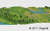 Satellite Panoramic Map of Hutahutang