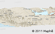 Shaded Relief Panoramic Map of Hutahutang