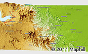 """Physical 3D Map of the area around 2°16'34""""N,99°31'30""""E"""