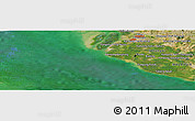 Satellite Panoramic Map of Klang